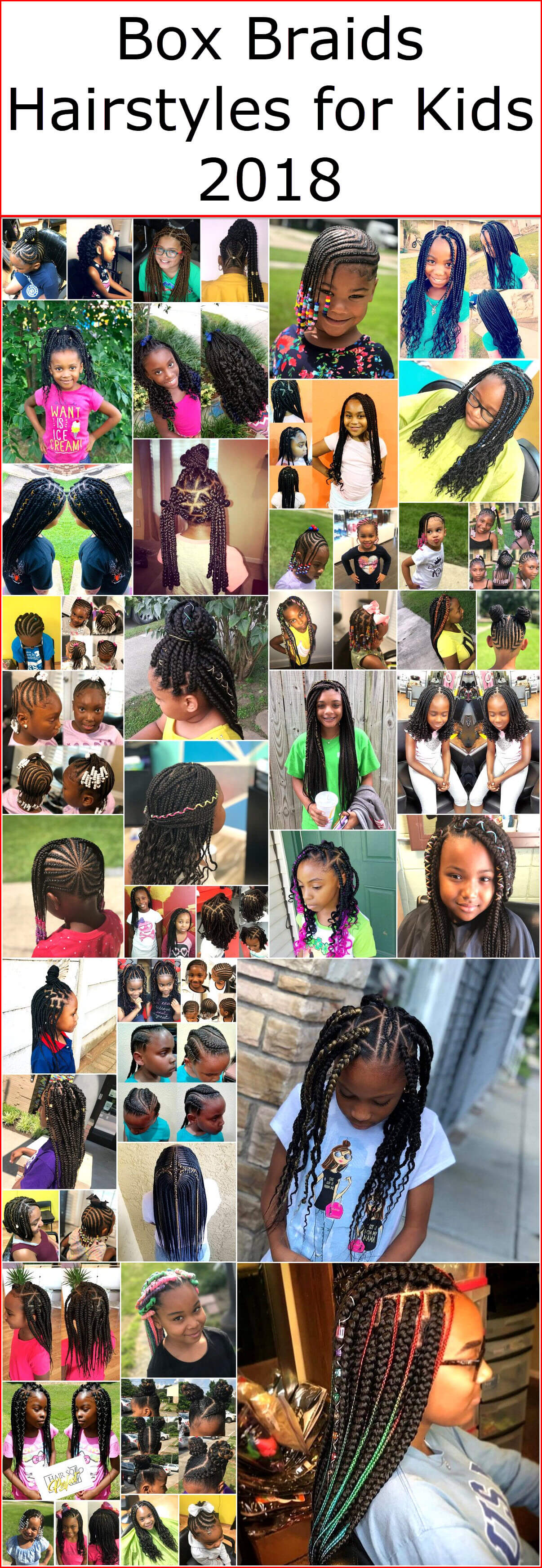Box Braids Hairstyles For Kids 2018 Kids Hairstyle Haircut Ideas Designs And Diy