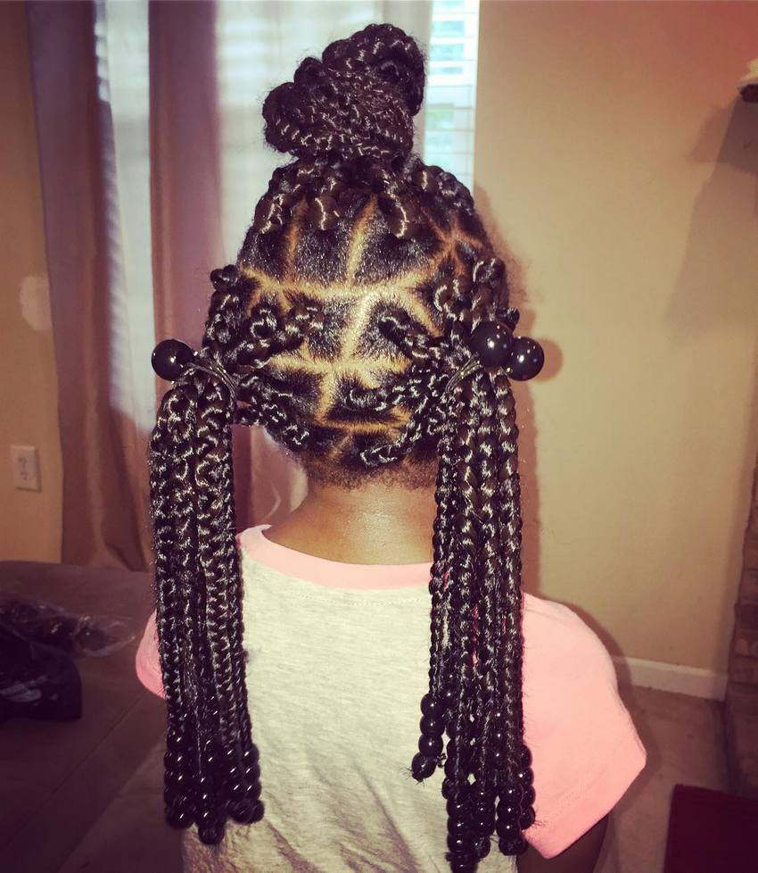 Box Braids Hairstyles for Kids 2018