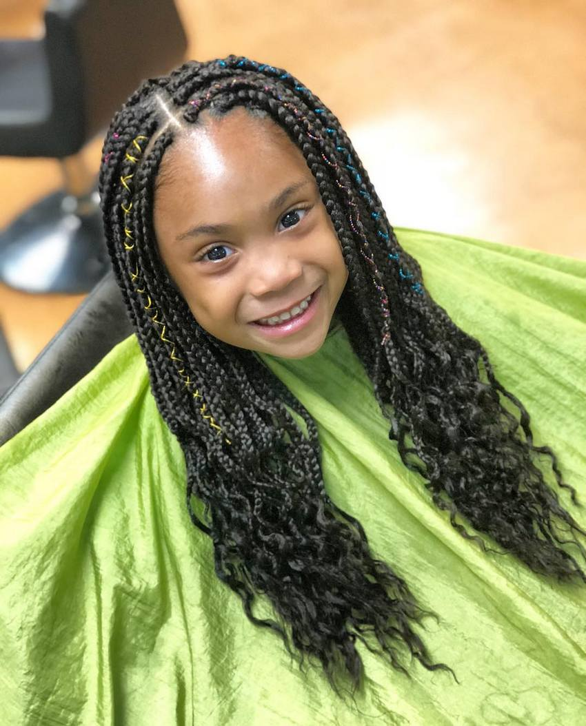 Box Braids Hairstyles for Kids 2018 | Kids Hairstyle ...