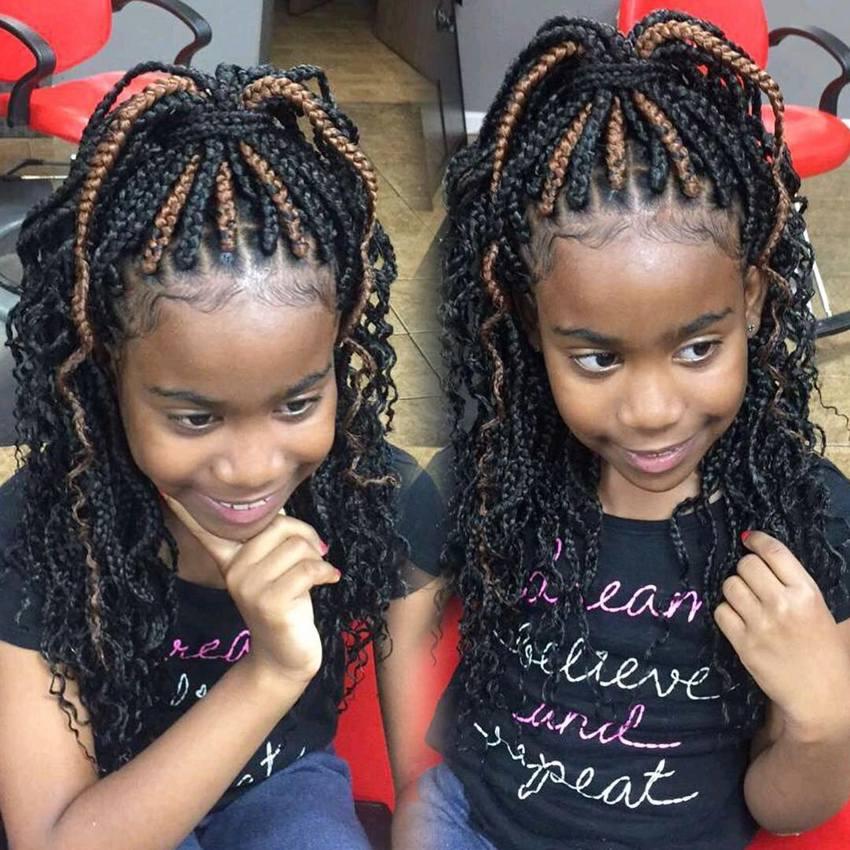 Box Braids Hairstyles for Kids 2018 | Kids Hairstyle Haircut ideas ...