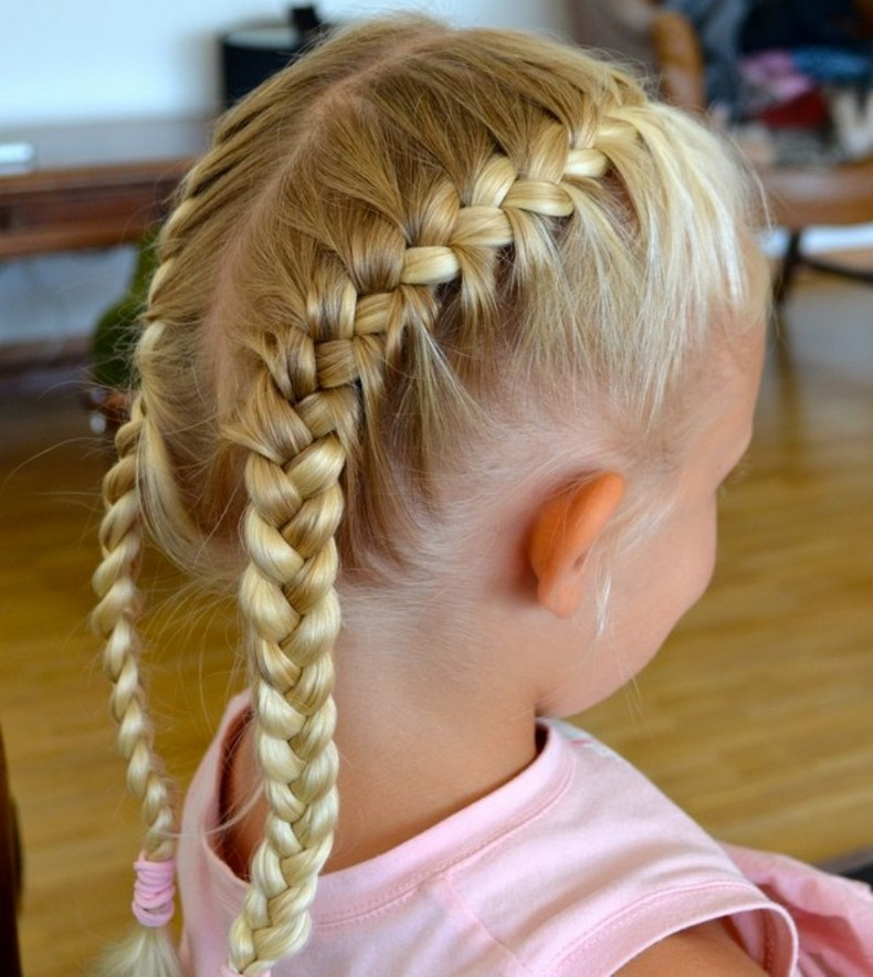 Little White Girl Braids Kids Hairstyle Haircut Ideas Designs And Diy