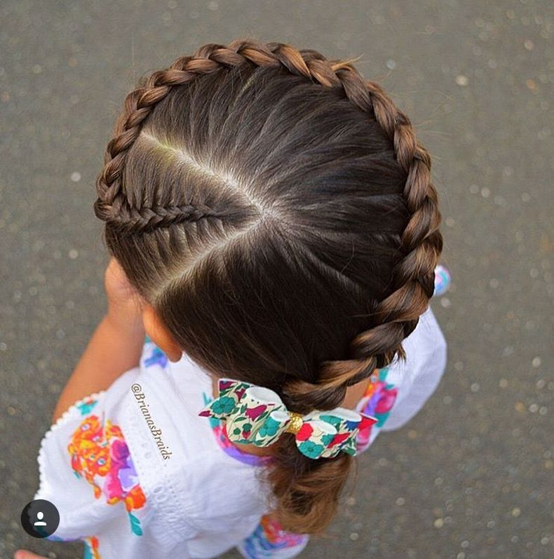 Little White Girl Braids Kids Hairstyle Haircut Ideas