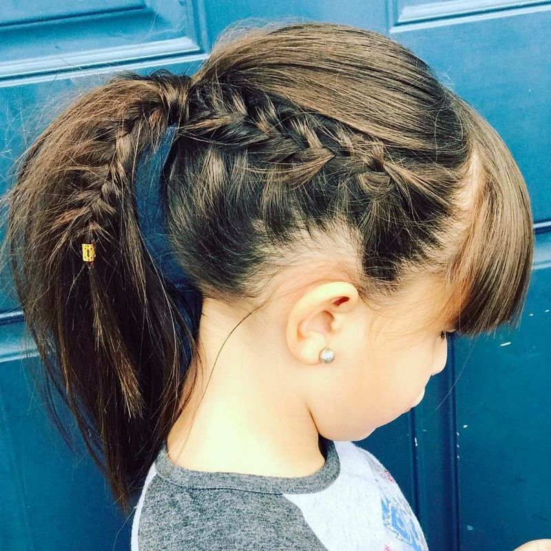 Ponytail Hairstyles For Little Girl