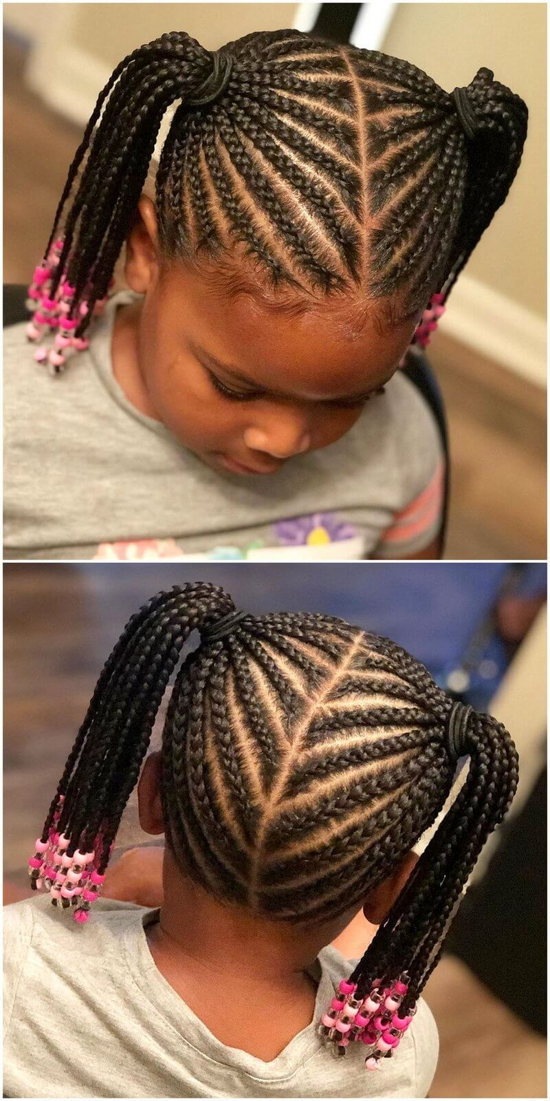 80 Cute Braided Hairstyles For Little Girls | Kids ...